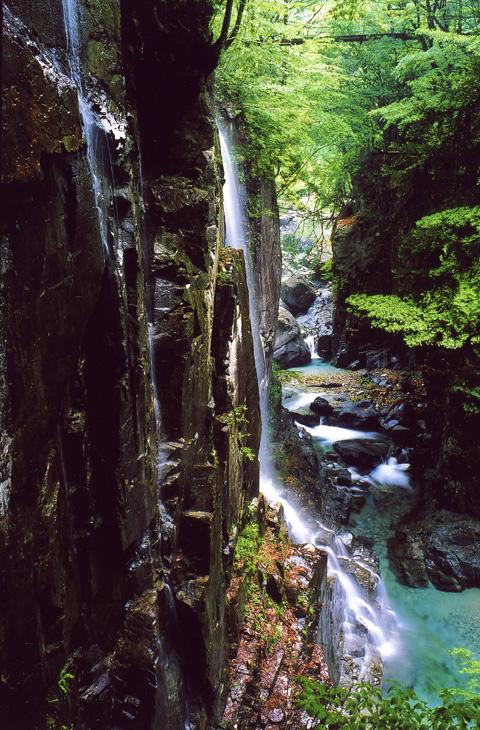 付知峡、権現滝