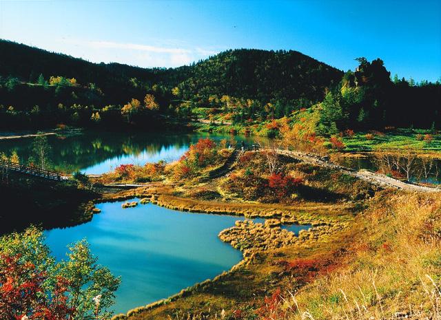 志賀高原の秋 弓池