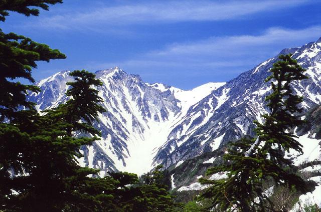 杓子岳、白馬大雪渓
